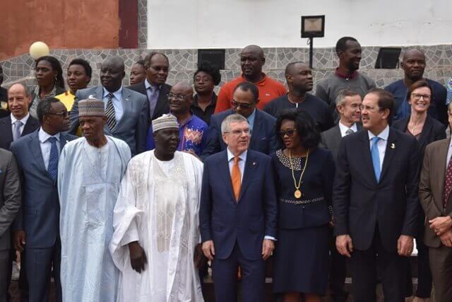 LE PRESIDENT DU CIO EN VISITE AU CAMEROUN