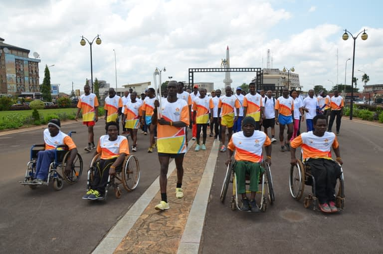 The Queen's Baton Relay stage in Cameroon in 2018